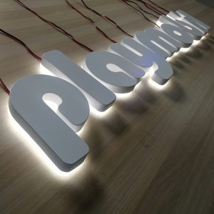 Customized 3D Hospital Electric Steel LED lighting Letter Supermarket Outdoor Sign board