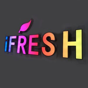 Indoor and Outdoor Changeable Letter Sign RGB Alphabet LED Channel Letters