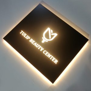 Shop Outdoor Led Sign 3D Acrylic Light Boxes Round LED Light Letter Backlit Logo Sign Boxes