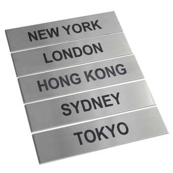 Outdoor Durable chemically etched Stainless Steel Engraved Signs