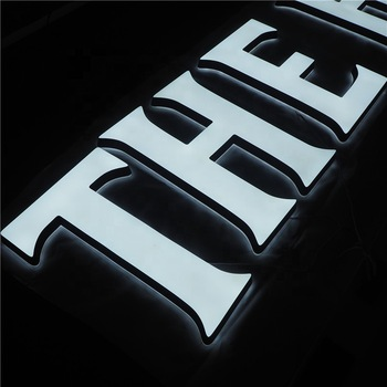 Professional led signs factory custom made fancy shaped led 3D letter rimless letter outdoor signage