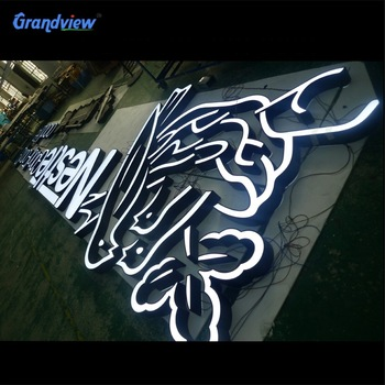 2020 Customized stainless steel metal christmas letters decoration led signs