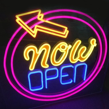 neon sign acrylic waterproof open signage closed led  neon sign letters outdoor led open sign