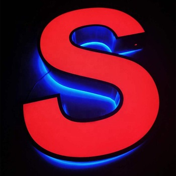 store outside LED Sign for our apartment raised plastic channel led signange lit letter acrylic Iuminus sign