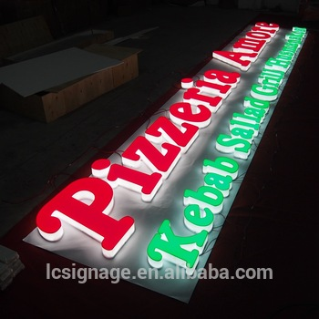 Hot sell popular 3d letter sign led full lighting letters build up acrylic signage