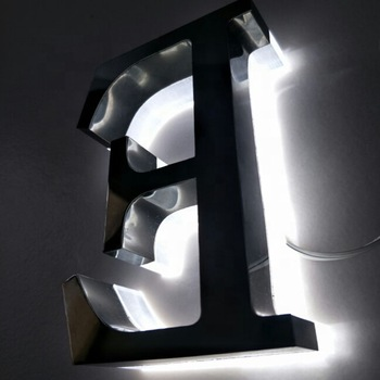 waterproof led sign lights electric sign led sign sun proof black steel letters signage (4 m x 1 m) for our shop