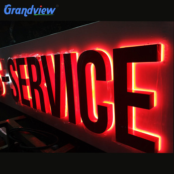 3D backlit LED steel letters sign board