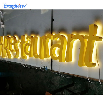 Electronic Store Outdoor Sign 3D welcome sign metal Illuminated gold signage
