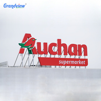 Outdoor Building Dimensional Giant Letters Big Letters Signage Large Metal Letters