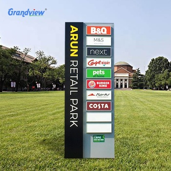 Pavement Outdoor Building Advertising Directory Directional Information Guide Signage