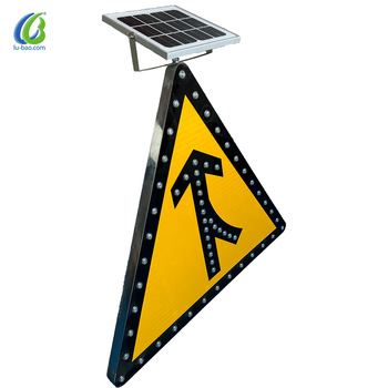 High Luminous Led Aluminum Casted Flashing City Street Publicity Solar Street Sign for Traffic Safety