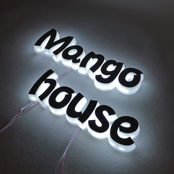 Company signs led acrylic light channel letters outdoor 3d acrylic front lit led shop sign