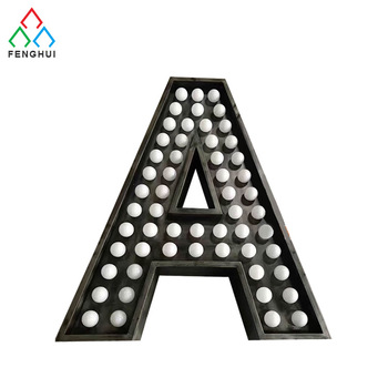 High quality LED front lit large marquee bulb letter signs