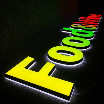 Customized  Business Signs Reception Led Acrylic Logo Sign Outdoor