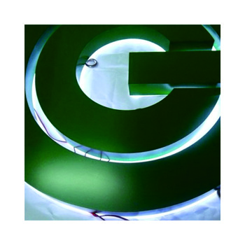 Used outdoor advertising light sign acrylic lighted sign led logo backlight acrylic 3d letter