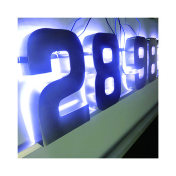 Wall mount outdoor corporate shop Advertising sign board advertising metal Led box back glow letters