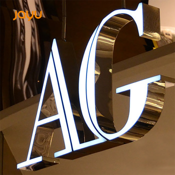 Custom Outdoor advertising Acrylic LED letter signage frontlit store signs LED channel letters shop front signs