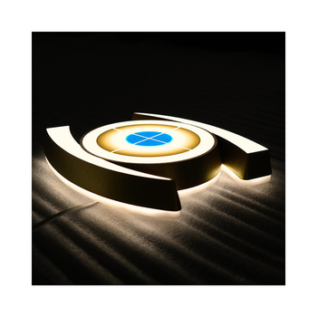 High Bright Waterproof 3d Led Illuminated Signs Laser Cut Acrylic Mirror Letter custom made led logo sign