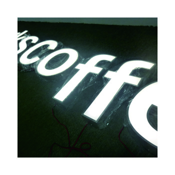 High quality led illuminated sign for outdoor use Advertising sign outdoor light box sign led channel