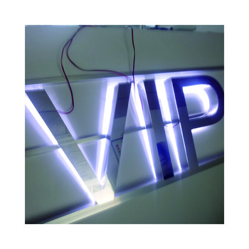acrylic smart led channel polished stainless steel letter colorful rgb letter custom lighted logo acrylic sign on wall