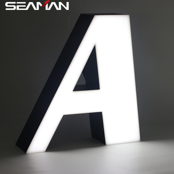 Front lit acrylic LED letter for outdoor advertising signs