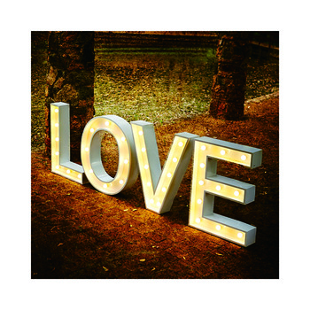 Wedding marriage christmas decoration lighted lettering marquee letters decorative love letters
