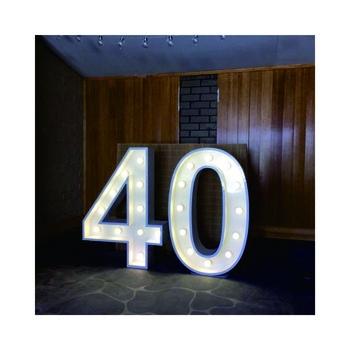 large free standing plywood alphabet letter outdoor programmable led signs