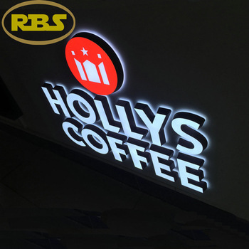 gold supplier DC12V power outdoor or indoor lighted 3D LED acrylic mini channel letters sign