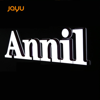 Mini acrylic led backlit signs sign light letter