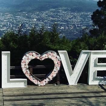Personalized production big love marquee sign custom led love marquee lights