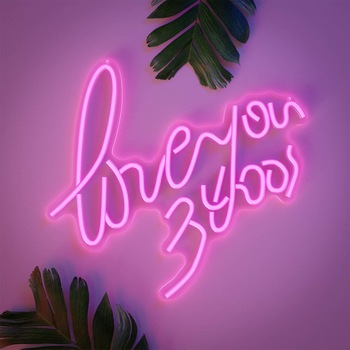 In Marriage Stage Backdrops Romantic Handmade soft Light Up Flex Neon Sign For Wedding Backdrop