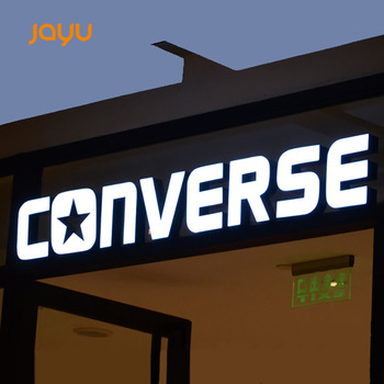 High lighting Outdoor 3D Advertising Big stainless steel Materials Block Channel Letters for Signs