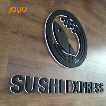 Backlit sign led fabric acrylic letters signboard