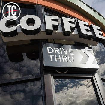 Coffee Shop Front Sign Led Channel Letters and Logo