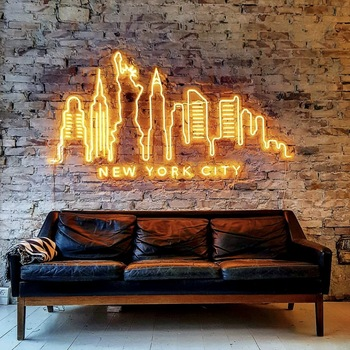 Advertising neon sign supplier acrylic led signs 8mm super mini
