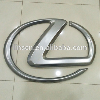 Customized chrome Illumination 3D signage logo led acrylic backlit car logo signs