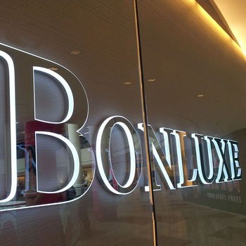Custom led outdoor light sign 3d mirror silver polished stainless steel backlit letter sign