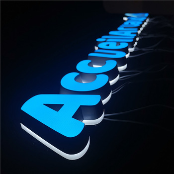 Long Lasting Attractive Side Lit Acrylic Small LED Letter Logo Sign