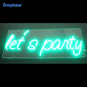 Eye-attractive electronic neon acrylic sign 12v led