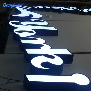 Cheaper price logo sign led illuminated acrylic plastic channel letter sign