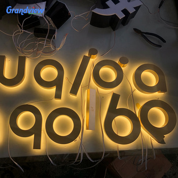 Led signs outdoor advertising portable channel metal letters sign steel