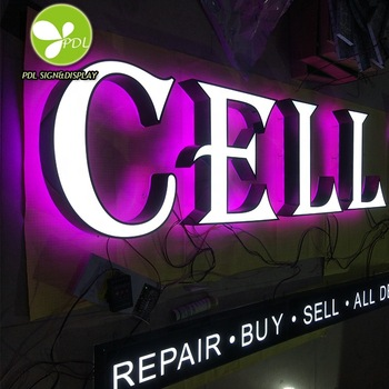 High Custom Waterproof Stainless Fabric Backlit Led Sign