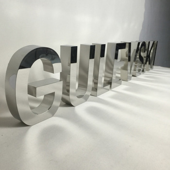 3D Letter Sign custom stainless steel Metal Letter Sign Without LED light
