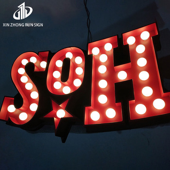 acrylic letters marquee letter signs battery operated led lights Led Bulb Letter