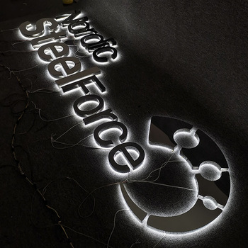 indoor office wall sign acrylic 3d logo backlit sign led advertising led letter signs