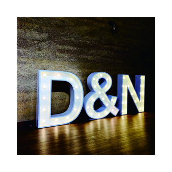 Outdoor Large Vintage Metal Lighted Up Led Love Signs Marquee Bulb Letters light up letters for sign