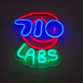 Factory wholesale LED acrylic neon letter sign with UV printing base board diy decorative custom neon sign