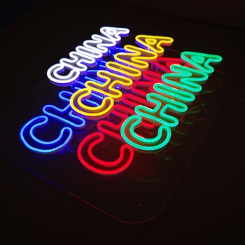 Wholesale Professional Outdoor Burger Open Neon Sign For Advertising
