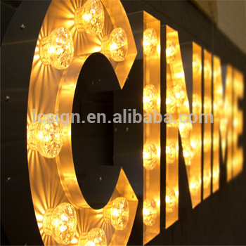 High quality cheap led letter neon sign china marquee lights box with letters