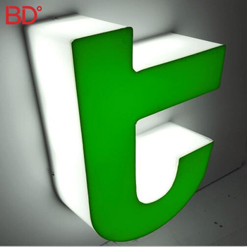 Outdoor advertising acrylic signs logo / led edge lit channel letter sign led letter board for illuminated diy channel letter
